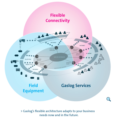 Gaslog's flexible architecture adapts to your business needs now and in the future